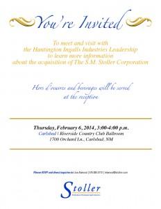 Carlsbad Community Reception Invitation
